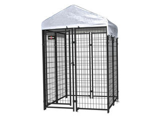 Black Powder Coated Modular Dog Kennels Welded Wire  8 X 4 X 6 Feet