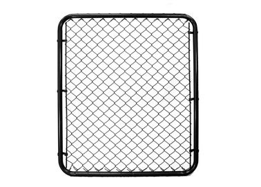 Black Powder Coated Garden Fence Gate , Chain Link Fence Gates