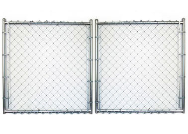 Back Yard Garden Fence Gate PVC Coated Surface Treatment with 10 Gauge