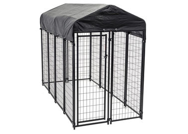 Pet Sentinel Modular Dog Kennels 6 ft x 4 ft x 8 ft Welded Wire